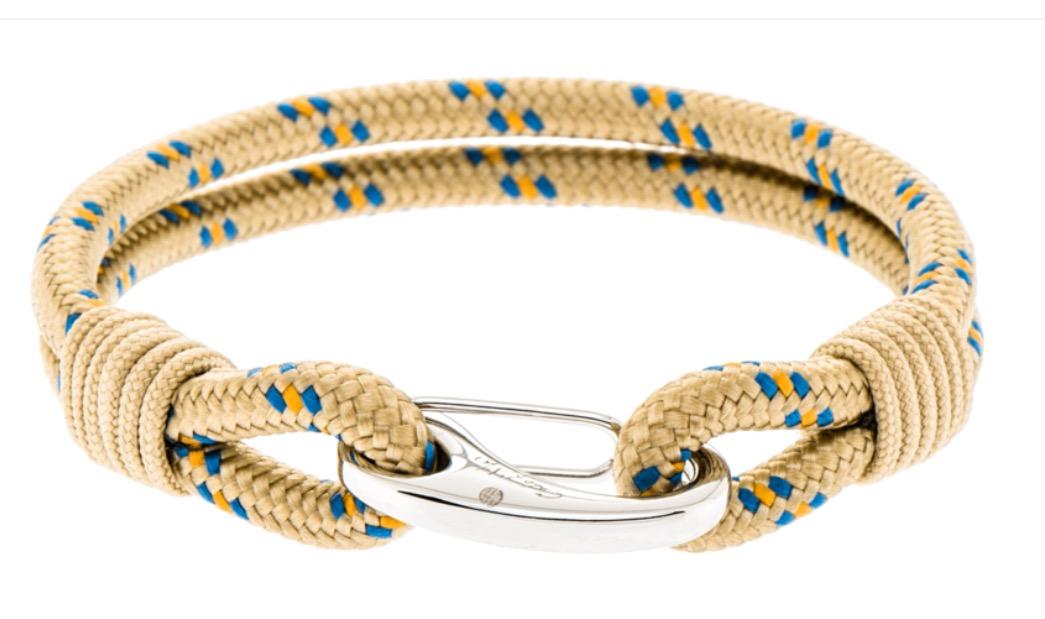 touw armband rvs sluiting