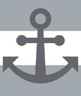 Servetten – Anchor Away Grey