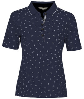 Bloomings – Polo Shirt Anchor Print